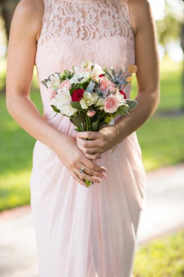 Elegant Pink & Red Wine Themed Wedding via TheELD.com