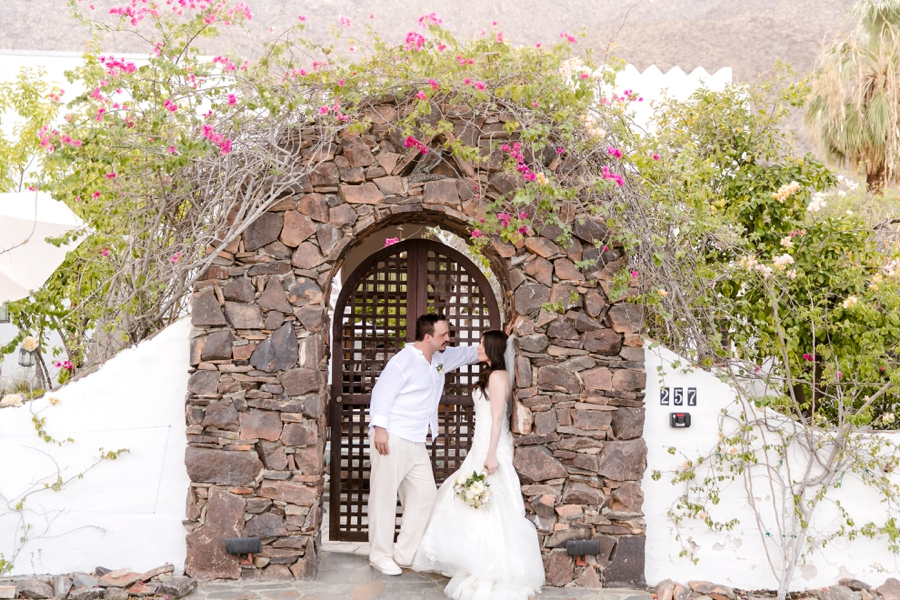 Industrial Chic Palm Springs Wedding via TheELD.com