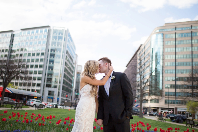 An Elegant Blush & Gold DC Wedding via TheELD.com