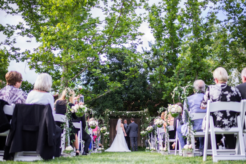 Pink & Navy Vintage Rustic Backyard Wedding via TheELD.com