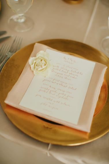 An Elegant Blush & Gold Seattle Wedding via TheELD.com