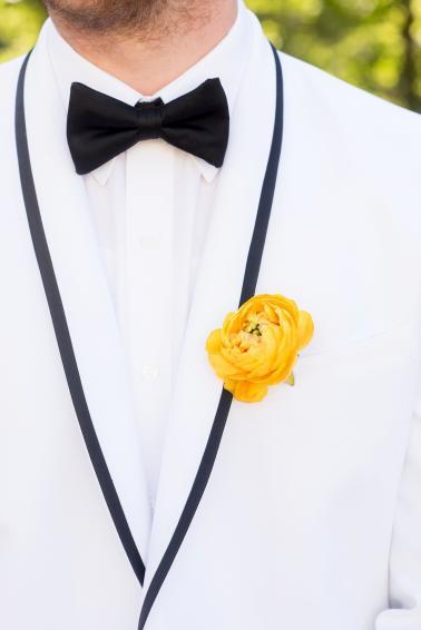 Pink Yellow Vintage Modern Wedding Ideas Via TheELD
