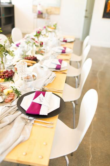 Romantic & Modern Geometric Wedding Ideas via TheELD.com