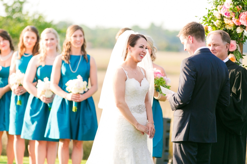 A Colorful & Glam Charleston Wedding via TheELD.com