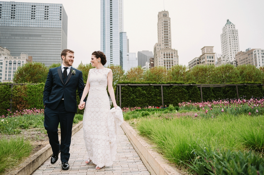 Vintage Eclectic Jewel Toned Chicago Wedding via TheELD.com