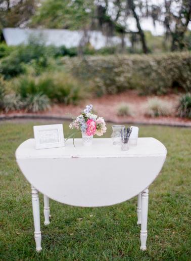 Vintage Romantic Pastel Florida Wedding via TheELD.com