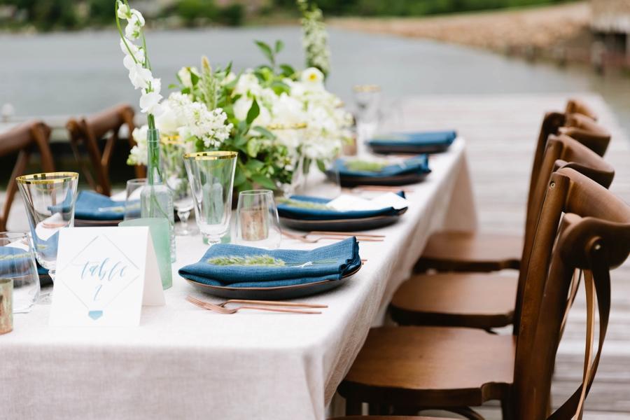 Romantic White & Blue Wedding Ideas via TheELD.com