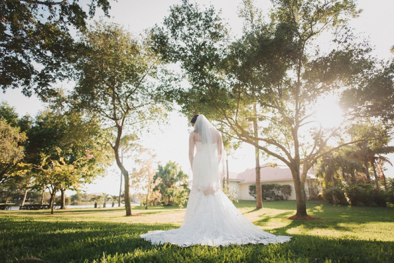 An Elegant Backyard Wedding In Palm Beach via TheELD.com