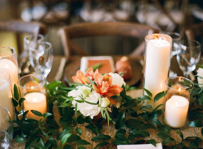 Intimate Copper and White North Carolina Wedding via TheELD.com