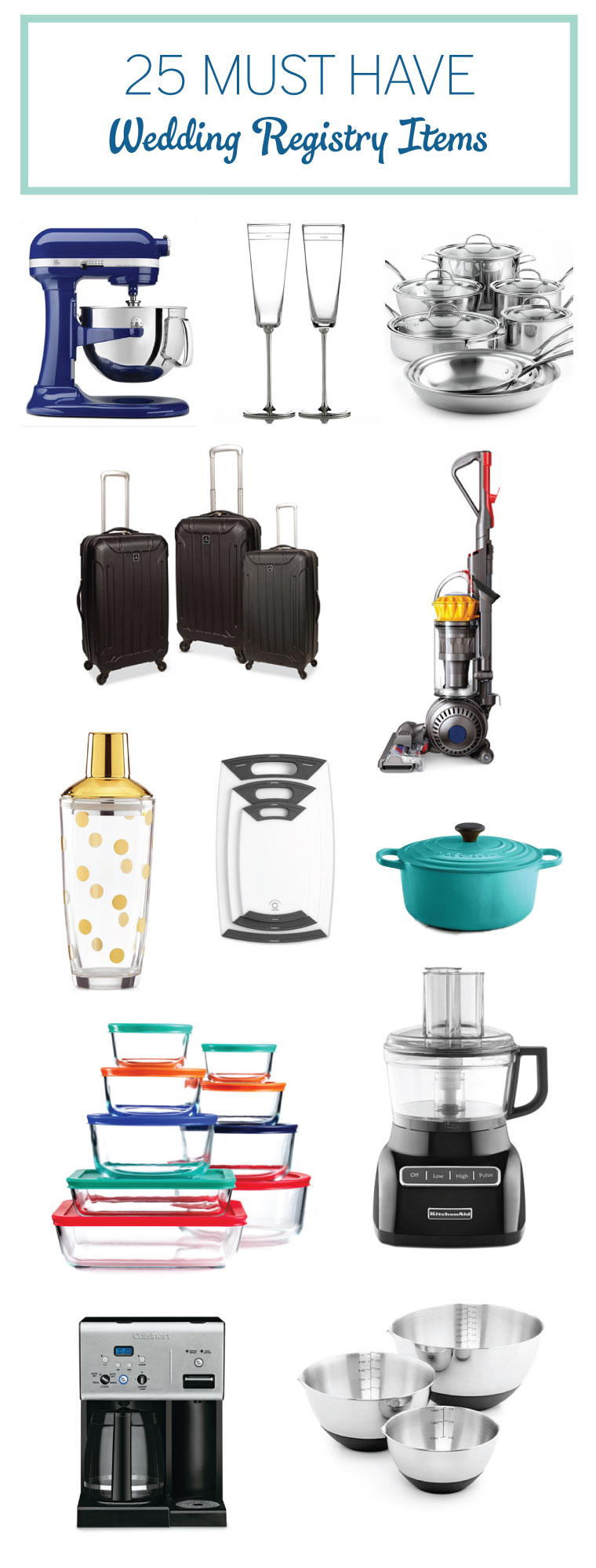 25 must have wedding registry items every last detail for Best items to register for wedding