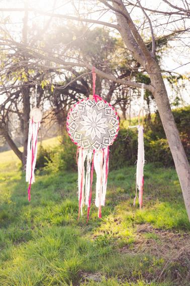 Colorful Rustic Boho Wedding Ideas via TheELD.com