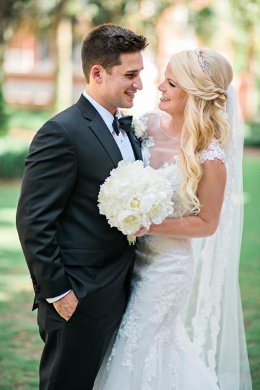 A Glamorous Versailles Inspired Black Tie Wedding via TheELD.com