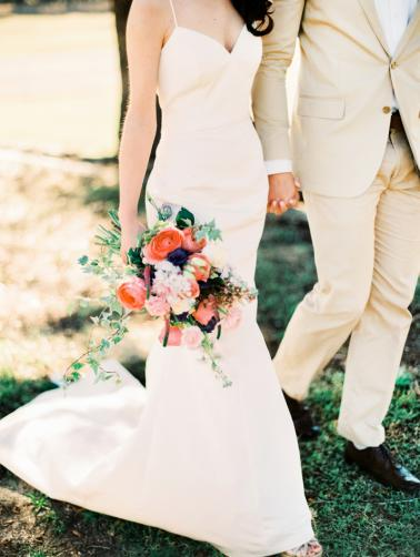 Romantic Blush and Blue Wedding Inspiration via TheELD.com