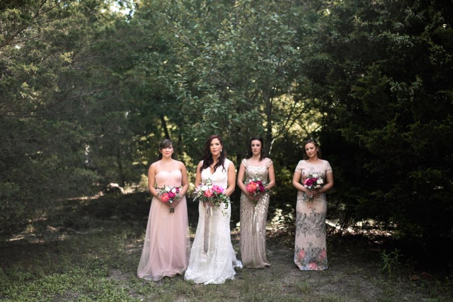 Pink & Peach Rustic Dallas Wedding via TheELD.com