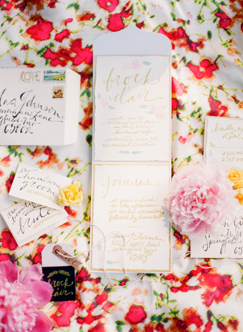 Colorful Chic Pink and Yellow Wedding Inspiration via TheELD.com