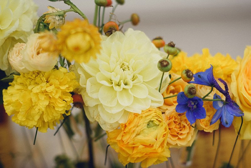 Elegant, Eclectic Yellow and Blue Wedding Ideas | Every Last Detail