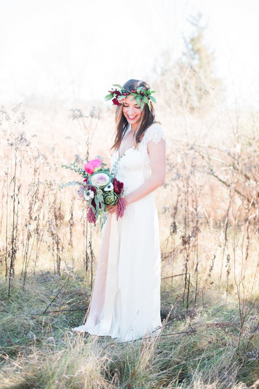 Winter Inspired Boho Chic Wedding Ideas via TheELD.com