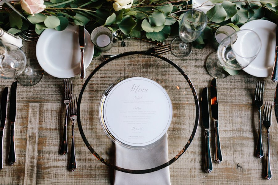 Chic Blush and Silver Industrial Wedding via TheELD.com