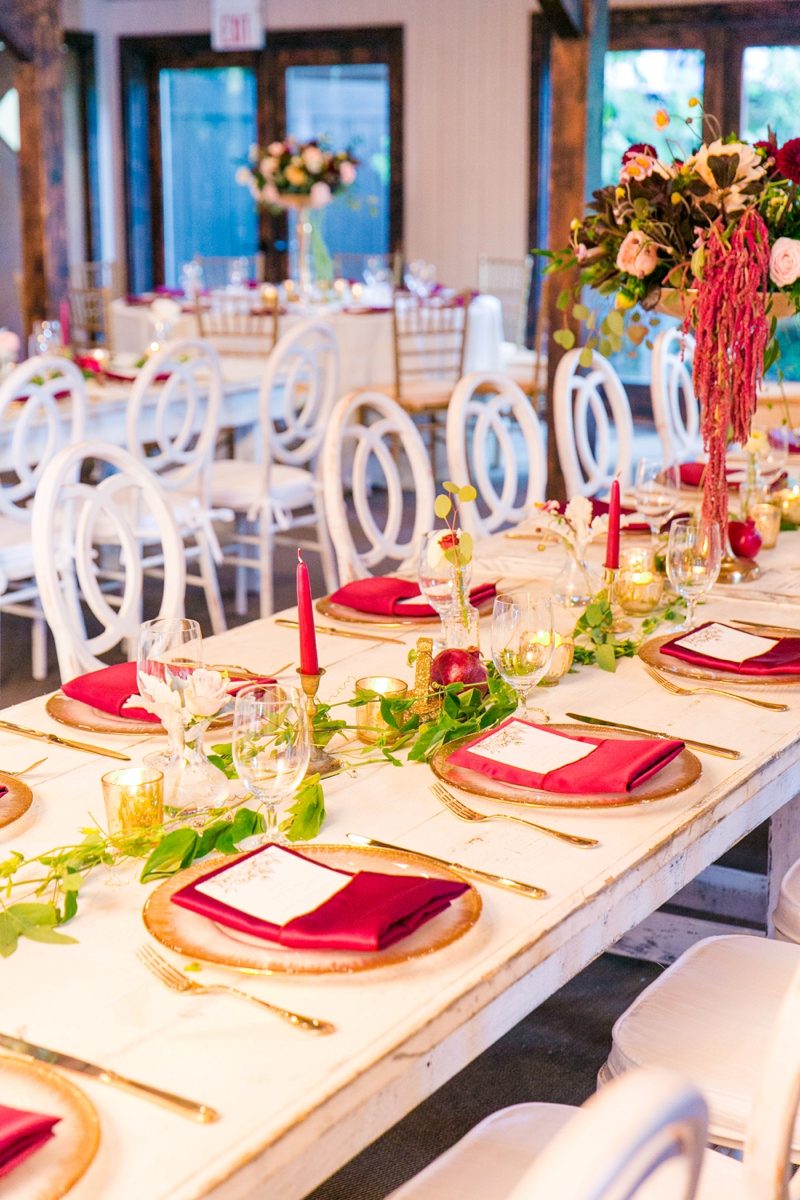 Romantic Red & Gold Charleston Wedding via TheELD.com