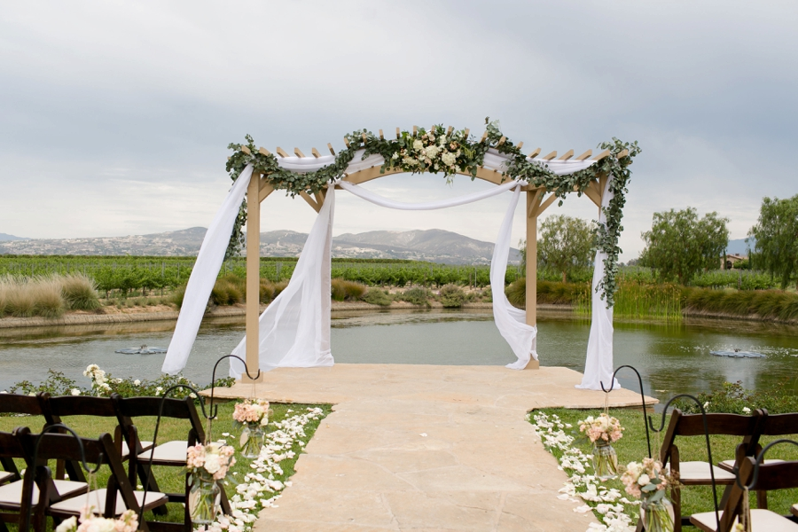Elegant Blush & White Temecula Wedding via TheELD.com
