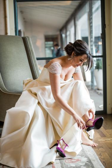 Elegant Pink, Black & Gold Dallas Wedding via TheELD.com