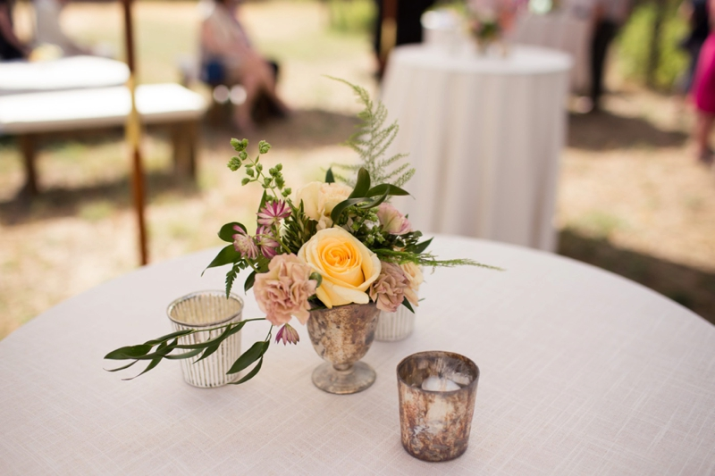 Organic & Romantic Backyard Wedding via TheELD.com