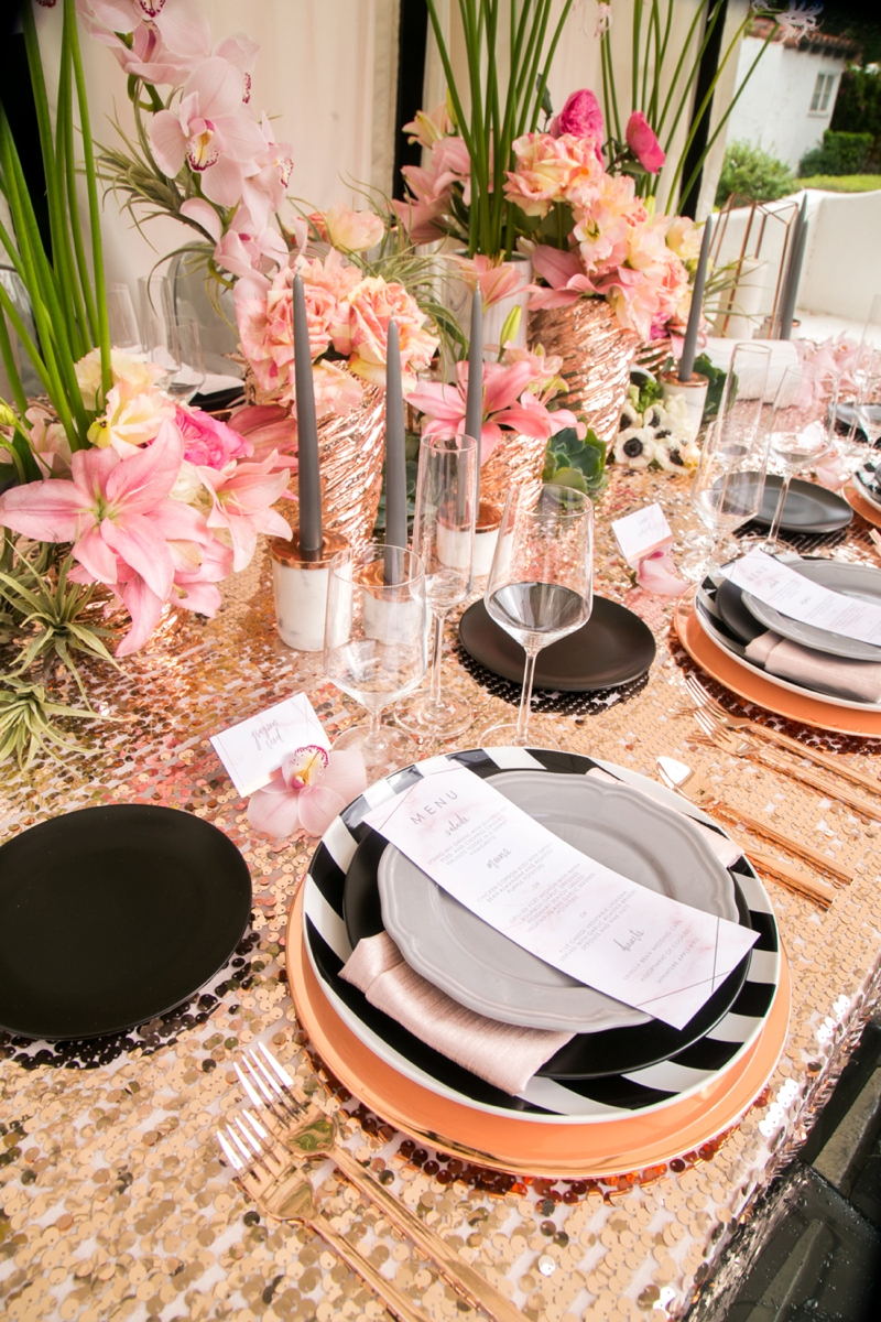 Modern Glam Black Rose Gold Wedding Ideas Every Last Detail