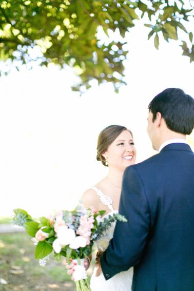 Pink, Blue & Gold South Carolina Wedding via TheELD.com