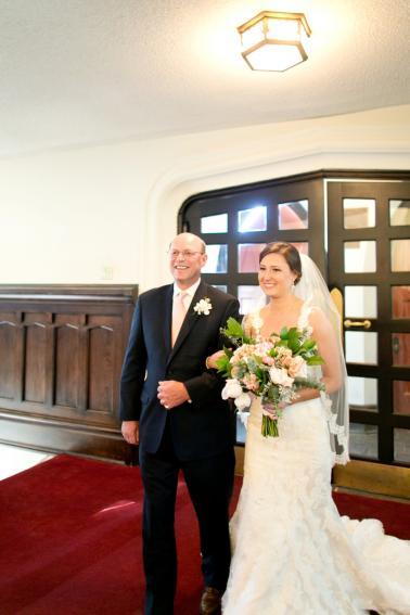 Pink, Blue & Gold South Carolina Wedding via TheELD.com