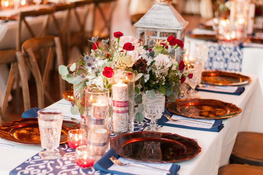 A Navy & Red Rustic Central Florida Wedding via TheELD.com