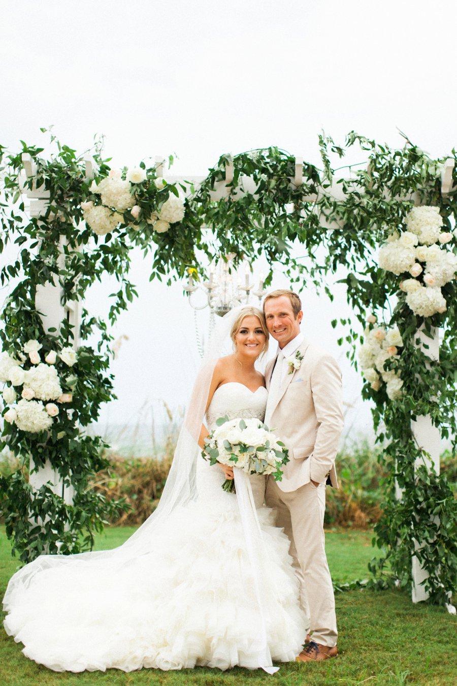 Elegant Blush Amp White Beach Wedding Every Last Detail