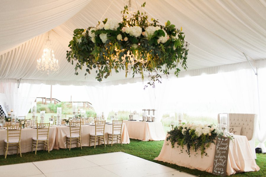 Elegant Blush & White Beach Wedding via TheELD.com