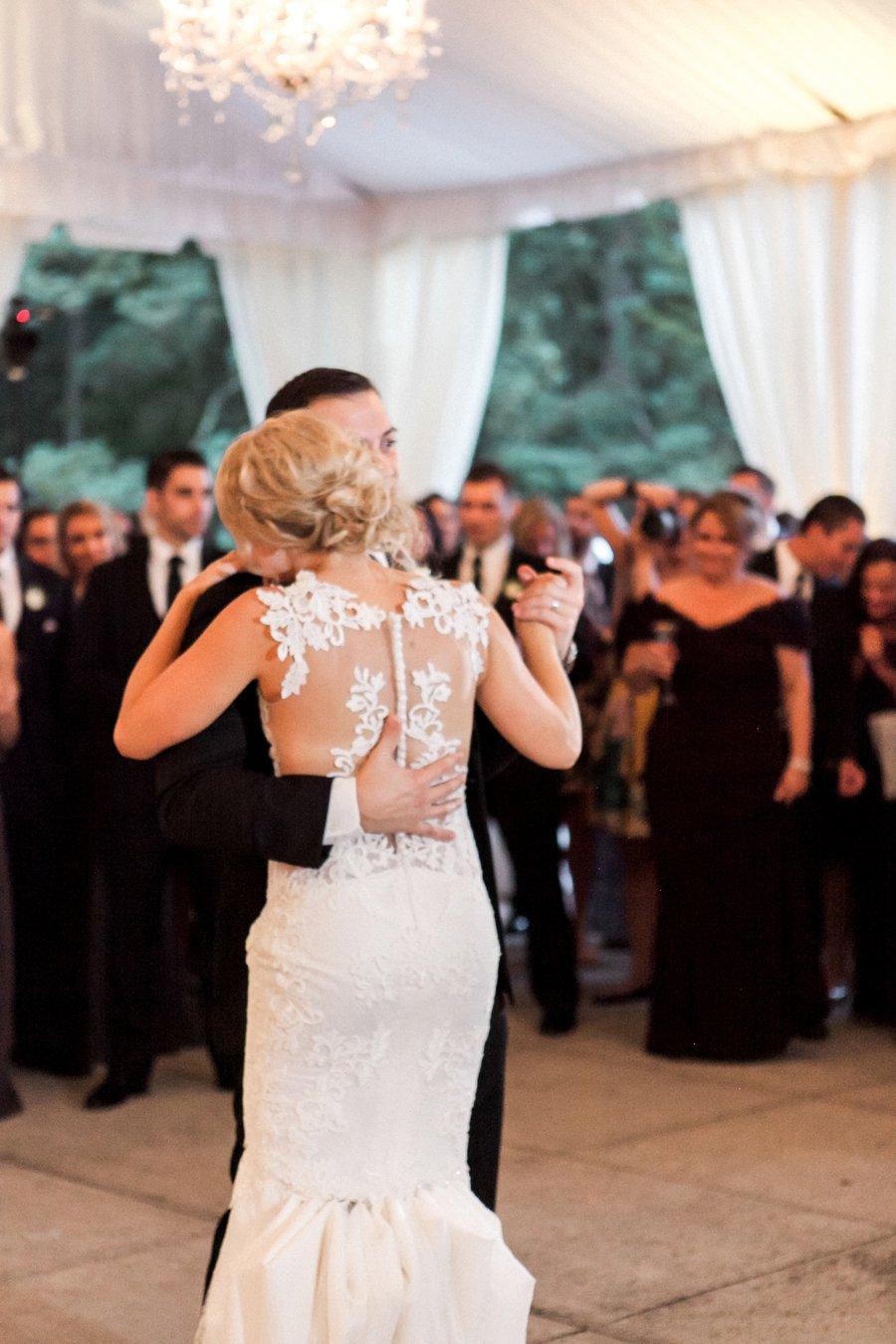Elegant Ivory and Blush Connecticut Wedding via TheELD.com