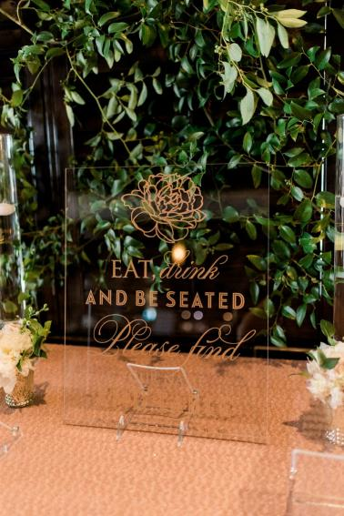 Modern Elegant Blush & Gold Florida Wedding via TheELD.com
