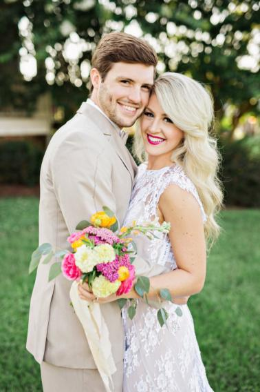 Colorful Southern Farm Wedding Inspiration via TheELD.com