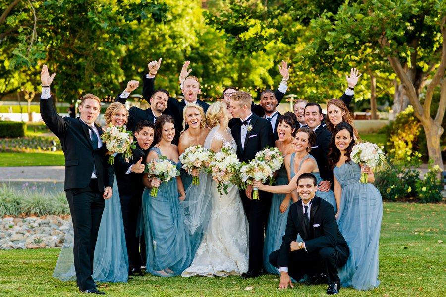 Dusty Blue & Ivory California Vineyard Wedding via TheELD.com