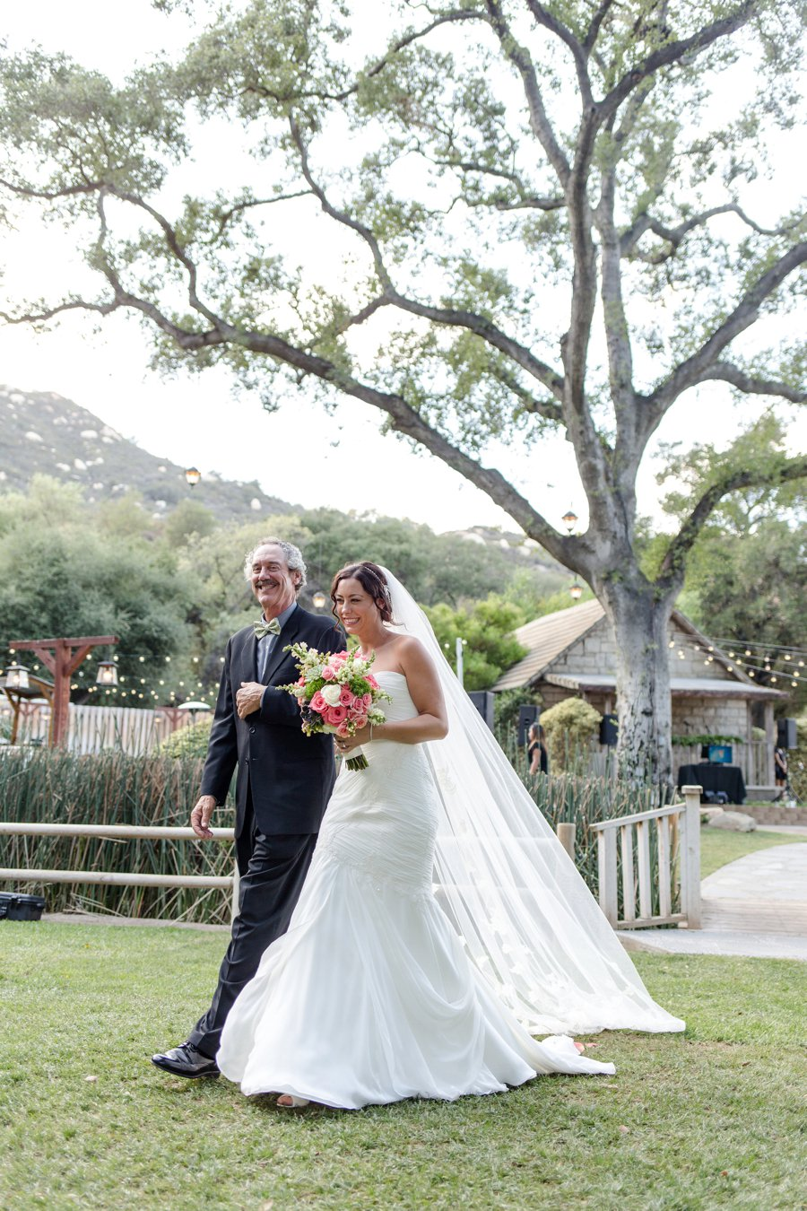 Eclectic Pink and Green Temecula Wedding via TheELD.com