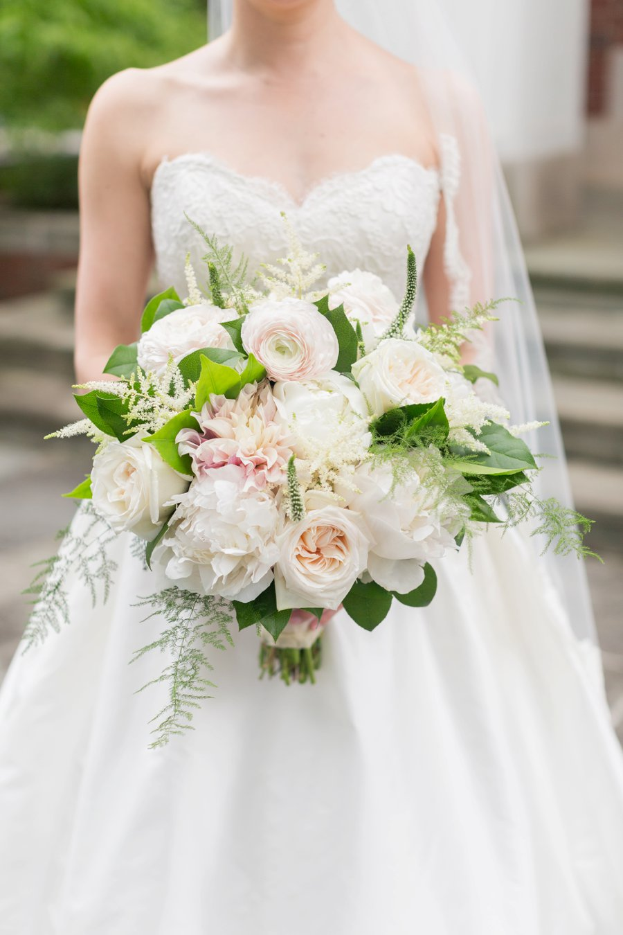 Pink and White Classic Southern North Carolina Wedding via TheELD.com
