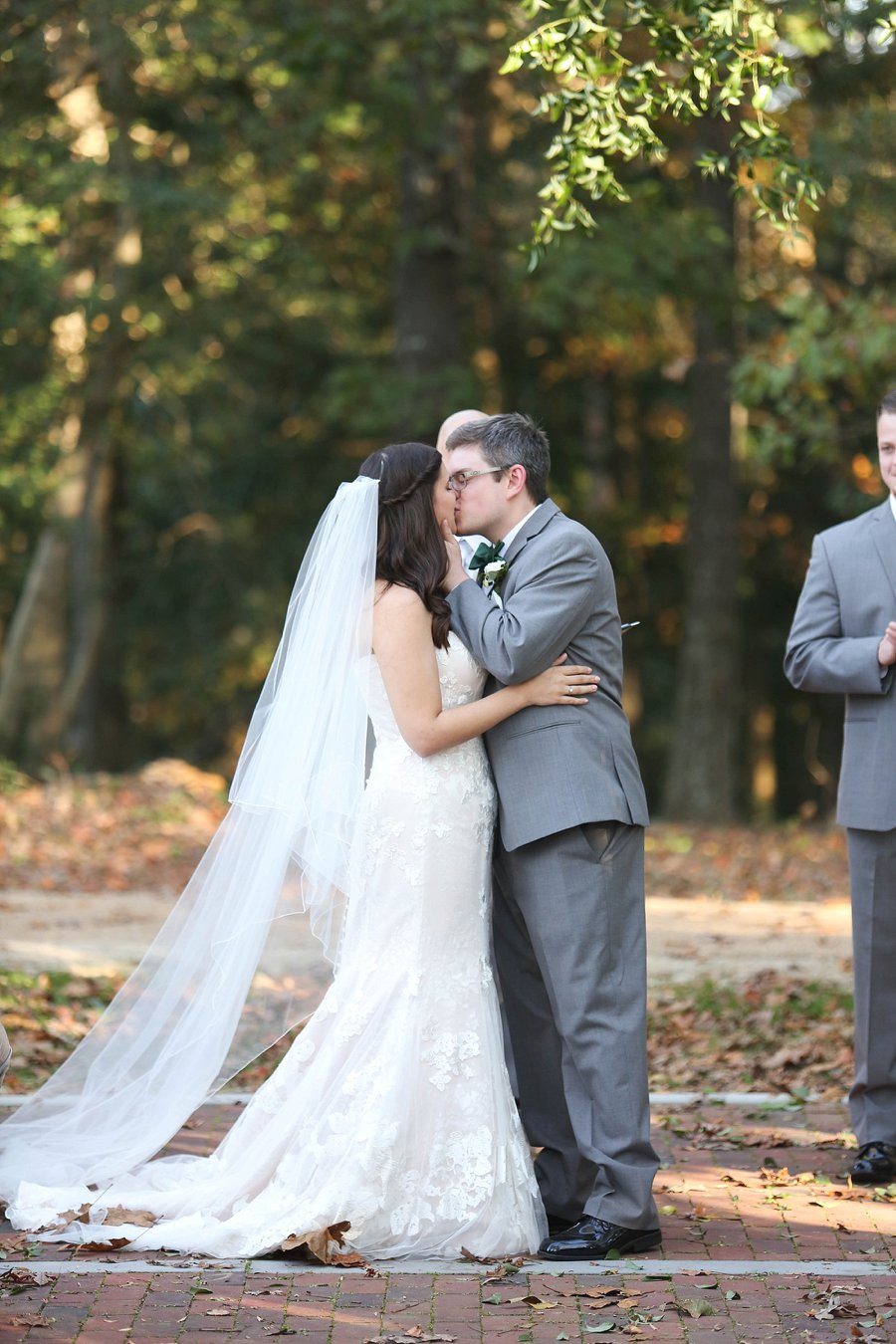 Green and White Rustic Virginia Wedding via TheELD.com