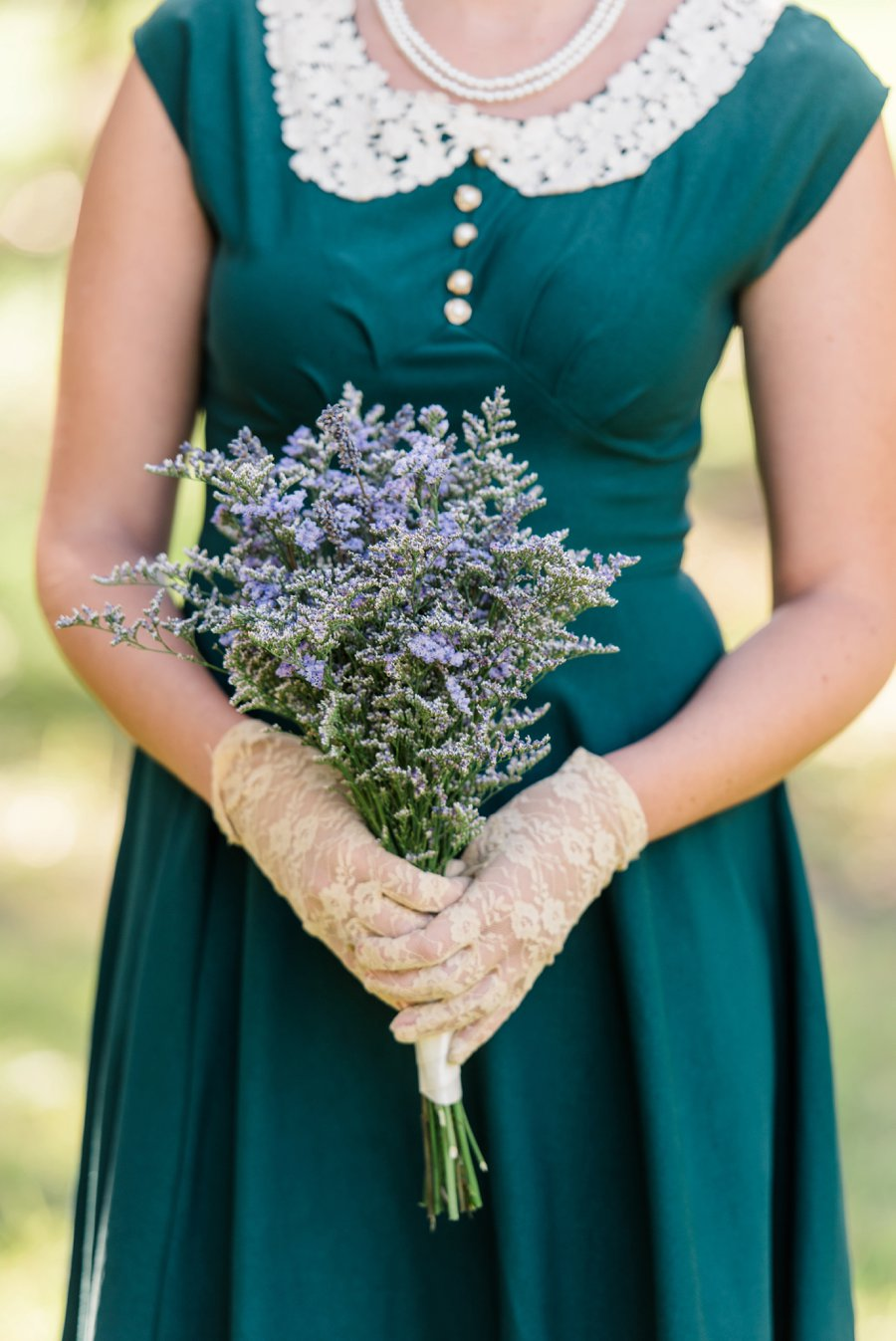 Lavender & Green Vintage Backyard Wedding via TheELD.com