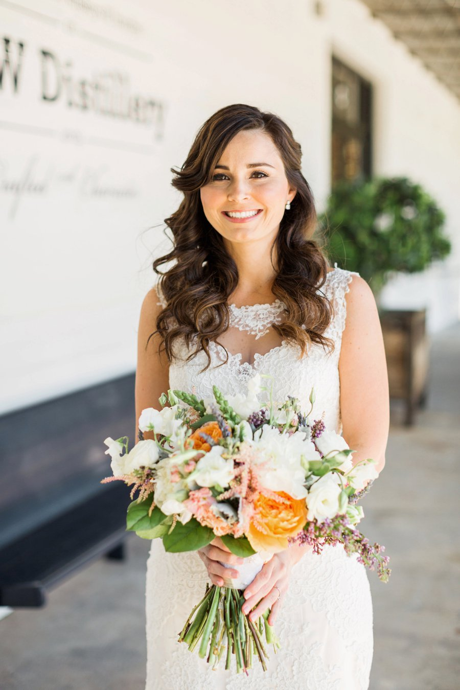 Blush and Green Industrial Atlanta Wedding via TheELD.com
