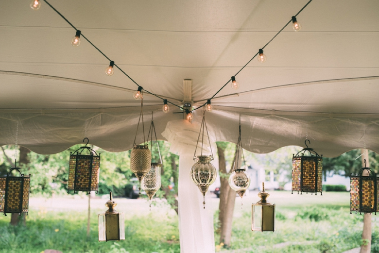 A Colorful Backyard Bohemian Wedding via TheELD.com