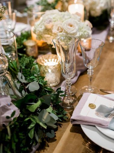 Elegant Lavender & Blue Coastal Wedding Inspiration via TheELD.com