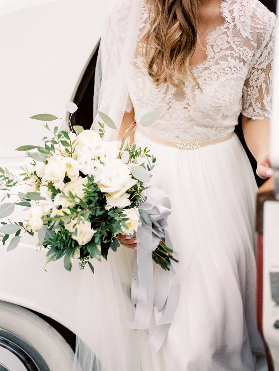 Elegant Lavender & Blue Coastal Wedding Inspiration via TheELD.com