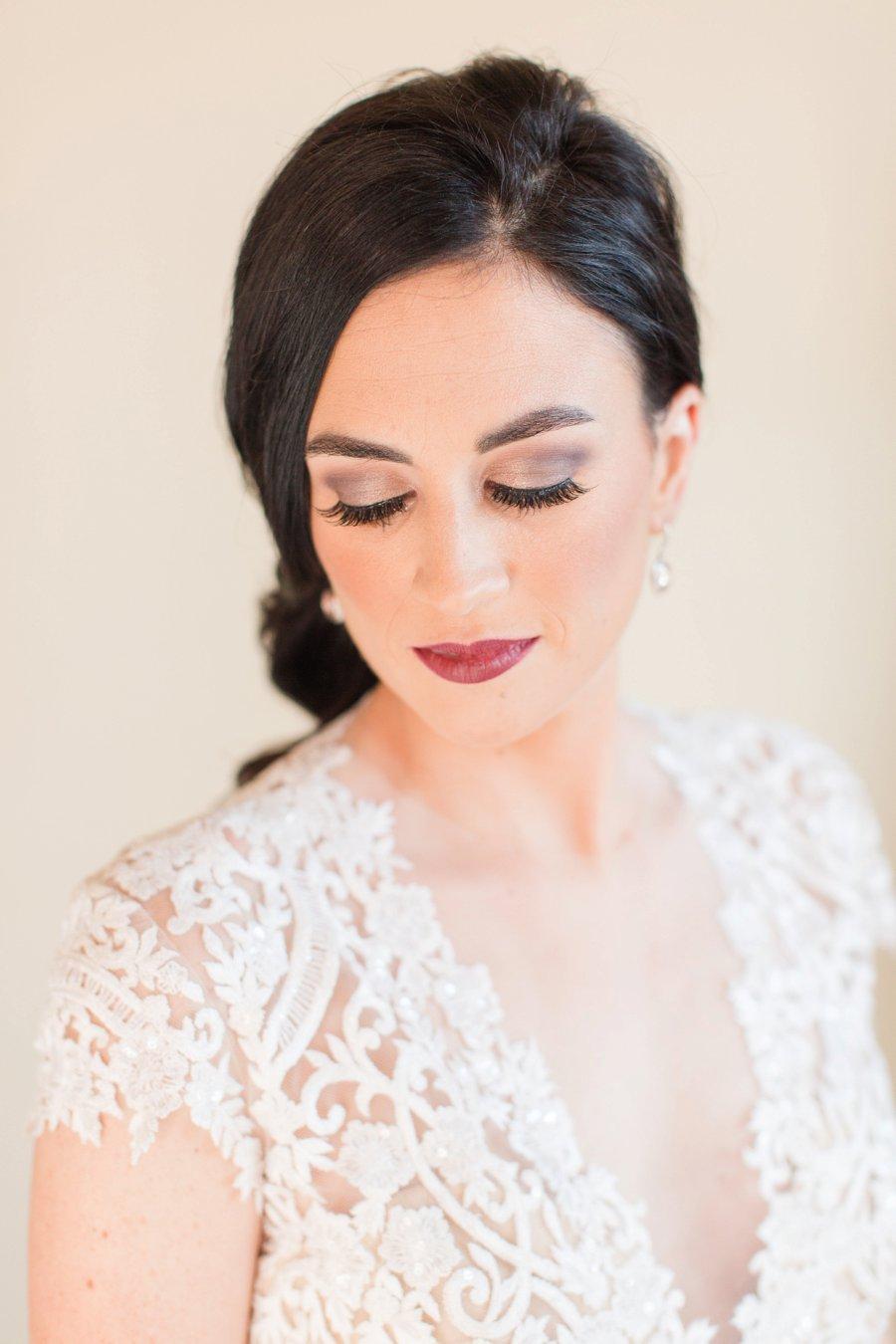 A Classic Wine and Navy Texas Wedding via TheELD.com