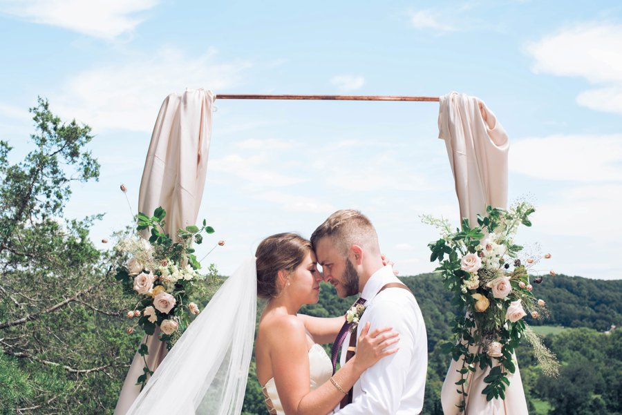 Classic Pink, Burgundy, & Green Mountain Wedding Ideas via TheELD.com