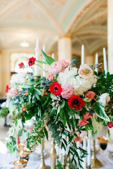 Elegant Pink and Red Wedding Ideas via TheELD.com