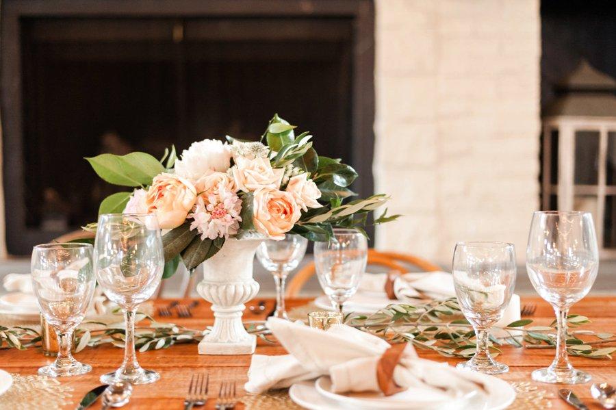 Peach & White Elegant Rustic Vineyard Wedding Ideas via TheELD.com