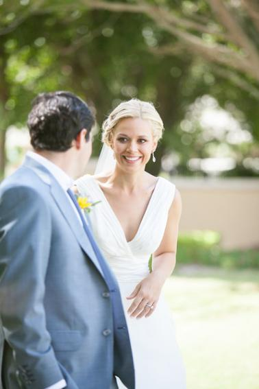 Classic Yellow and Blue Florida Beach Wedding via TheELD.com
