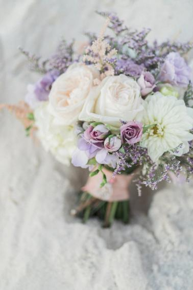Lavender and White Florida Beach Wedding via TheELD.com